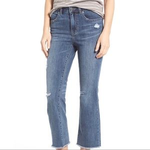 Caslon Flare Distressed Jeans NWT